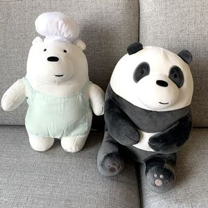 Ice bear and Panda from We are bare bears